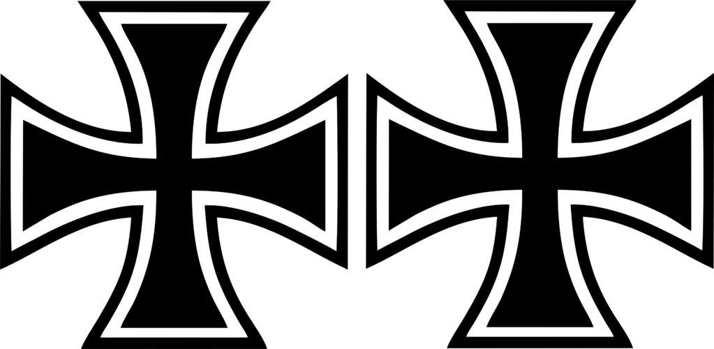Oldschool Aufkleber Set Eisernes Kreuz Verschiedene Farben Und Größen